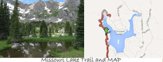 missouri lake trail and map in vail
